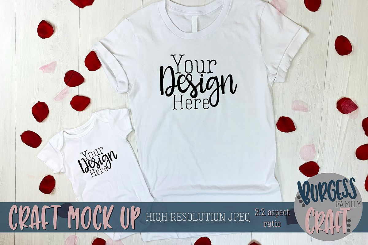 Valentine baby and adult apparel Craft mock up example image 1