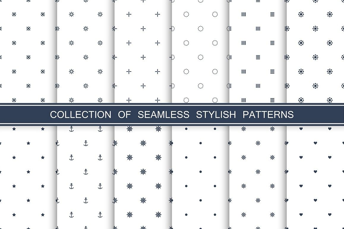 Minimal seamless patterns collection example image 1