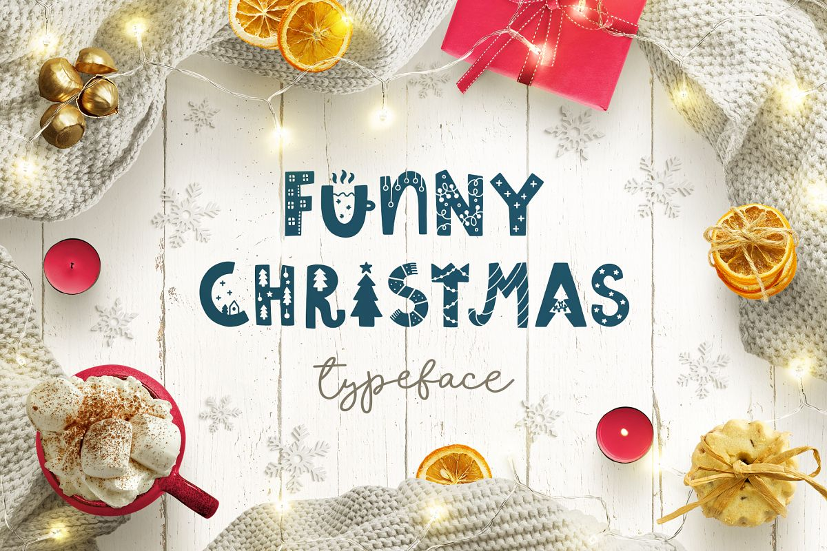 Funny Christmas Typeface! example image 1