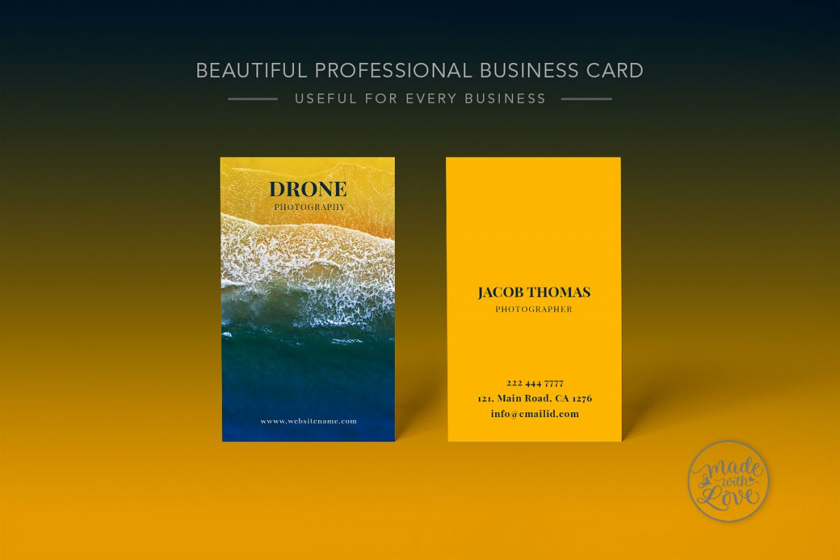 drone photography business card example image - Photography Business Card