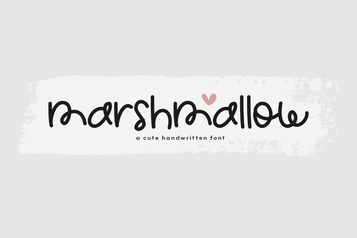 Marshmallow - A Cute Handwritten Font example image 1