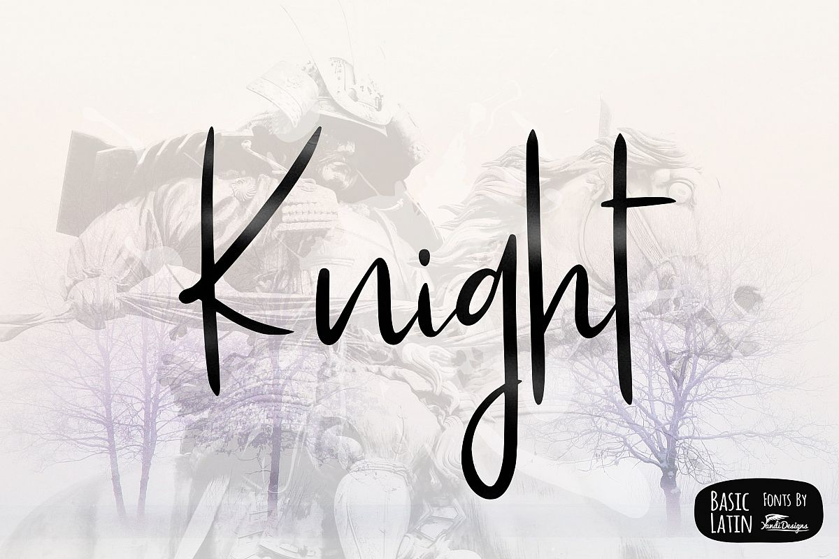 Knight Simple Font example image 1