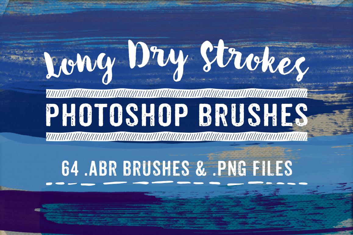 long dry paint stroke photoshop brushes design bundles