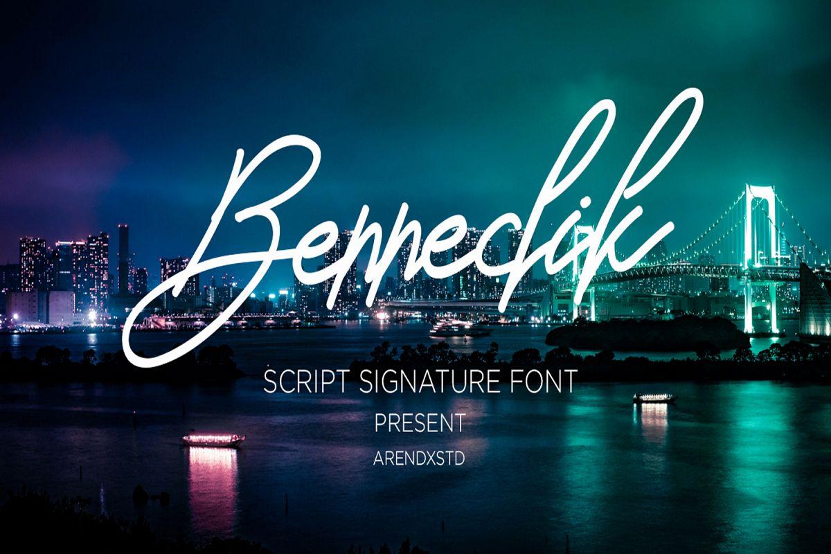 Bennedik Signature Typeface example image 1