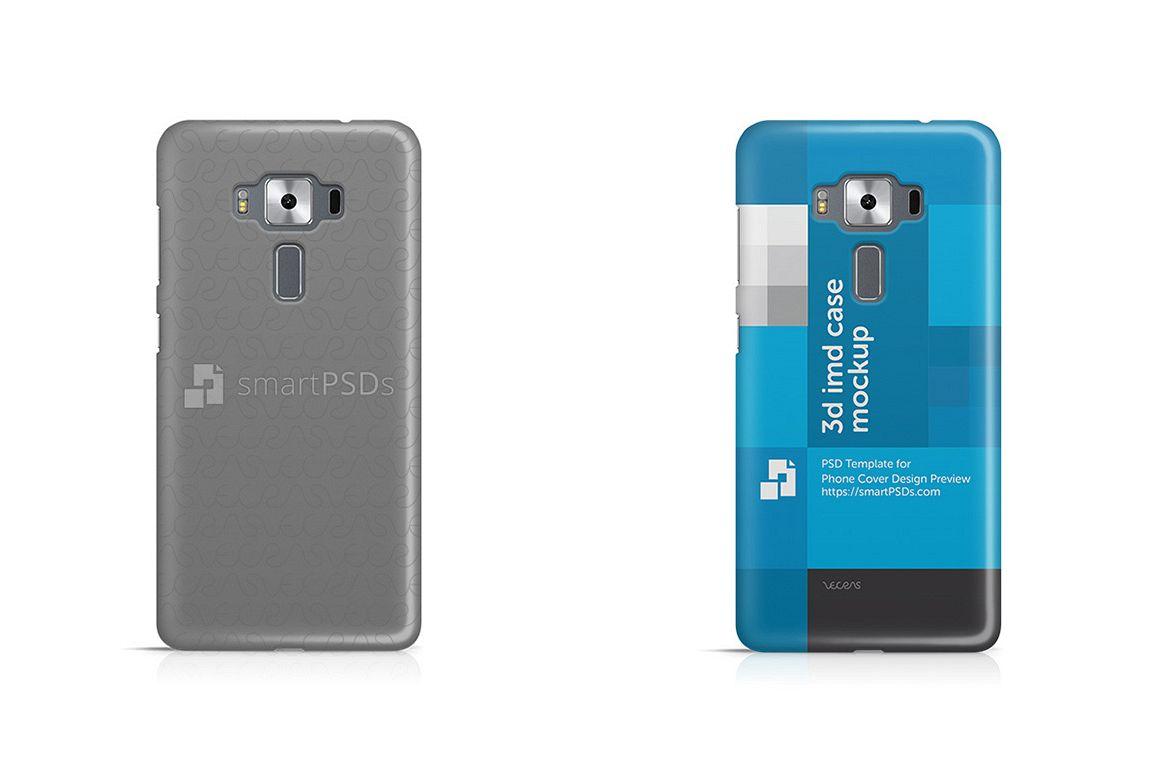 Asus Zenfone 3 Deluxe ZS570KL 3d IMD Mobile Case Design Mockup 2016 example image 1