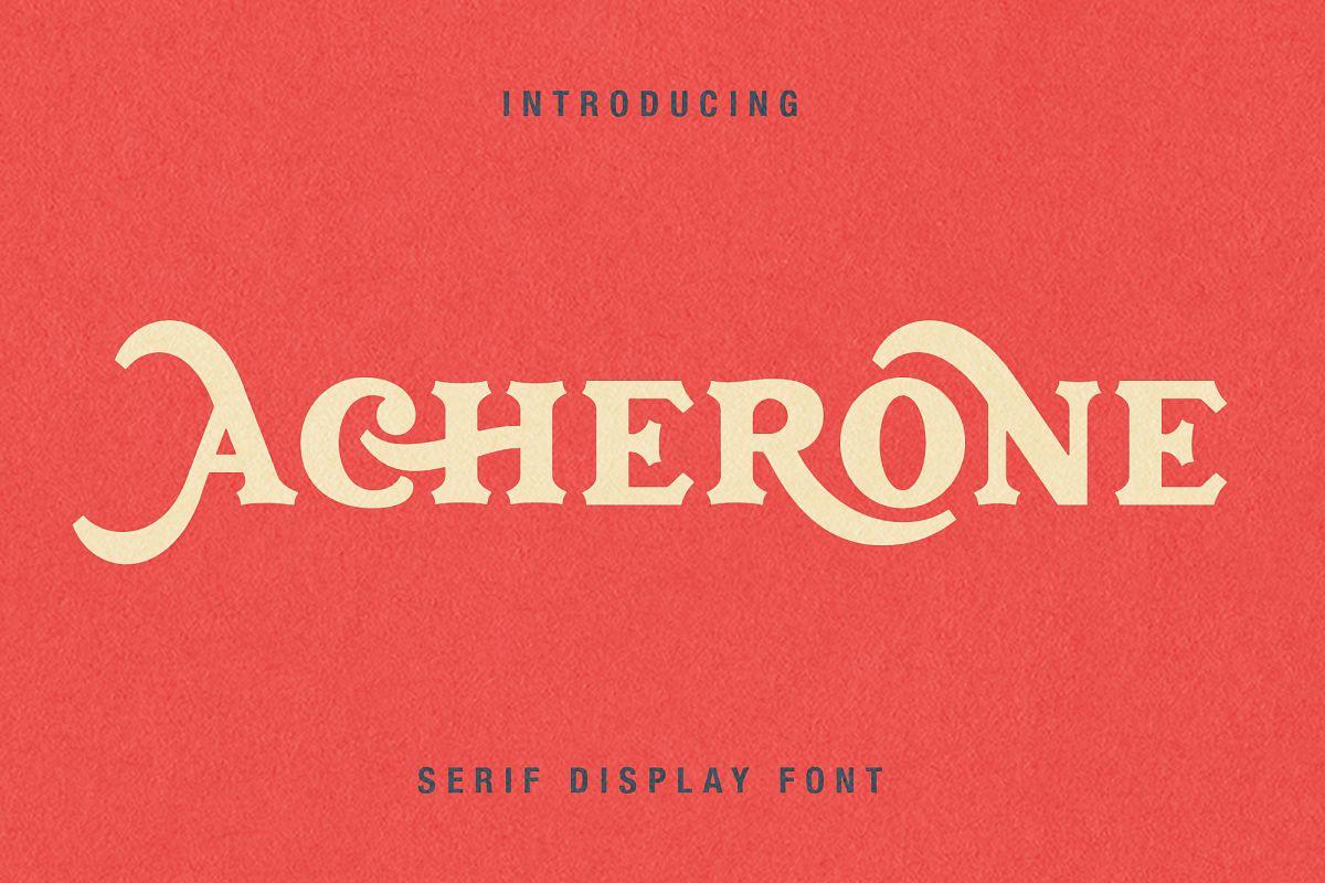 Archerone - Serif Display Font example image 1