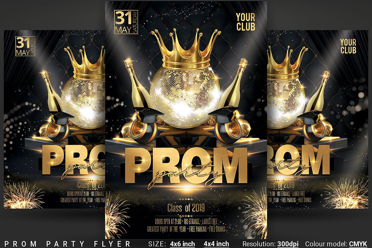 Prom Party Flyer example image 1