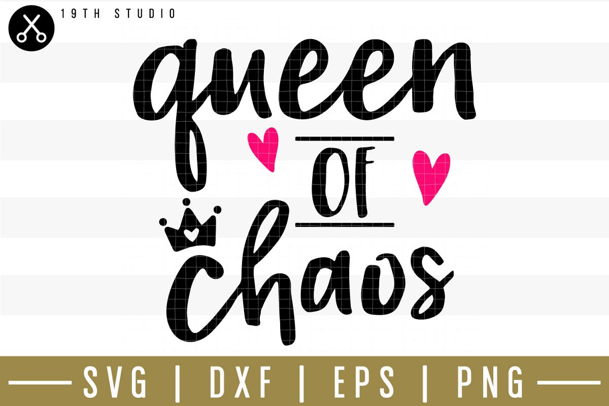 Queen of chaos SVG| Mom boss SVG example image 1