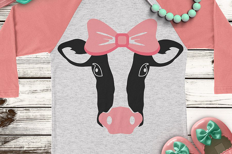 Cow Heifer Farm Life Animal Cute Kids Girls SVG DXF PNG Cut File Cricut  Silhouette Cameo Clip Art Htv Die Cutting Heat Transfer Vinyl