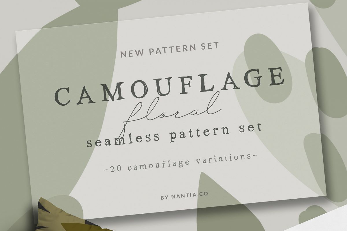 Camouflage Floral Pattern Set example image 1