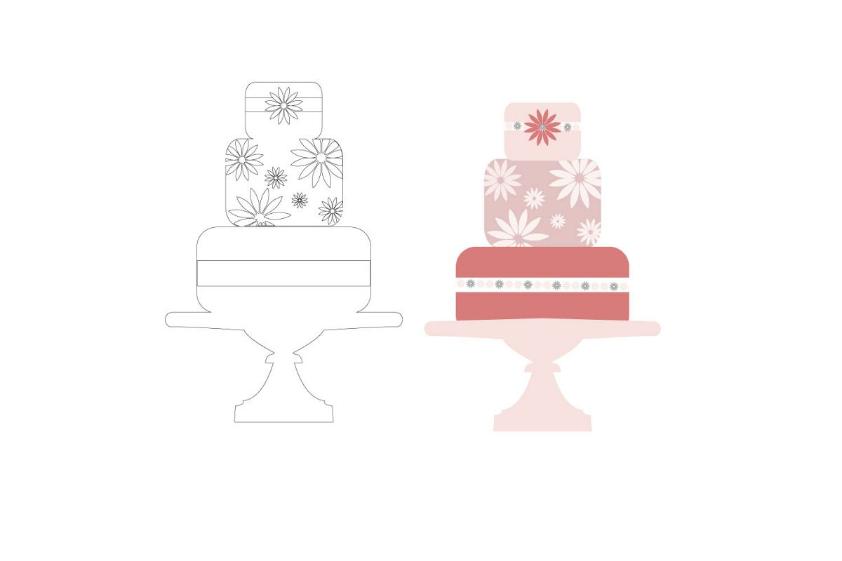 Layered Cake svg file, graphic file, example image 1