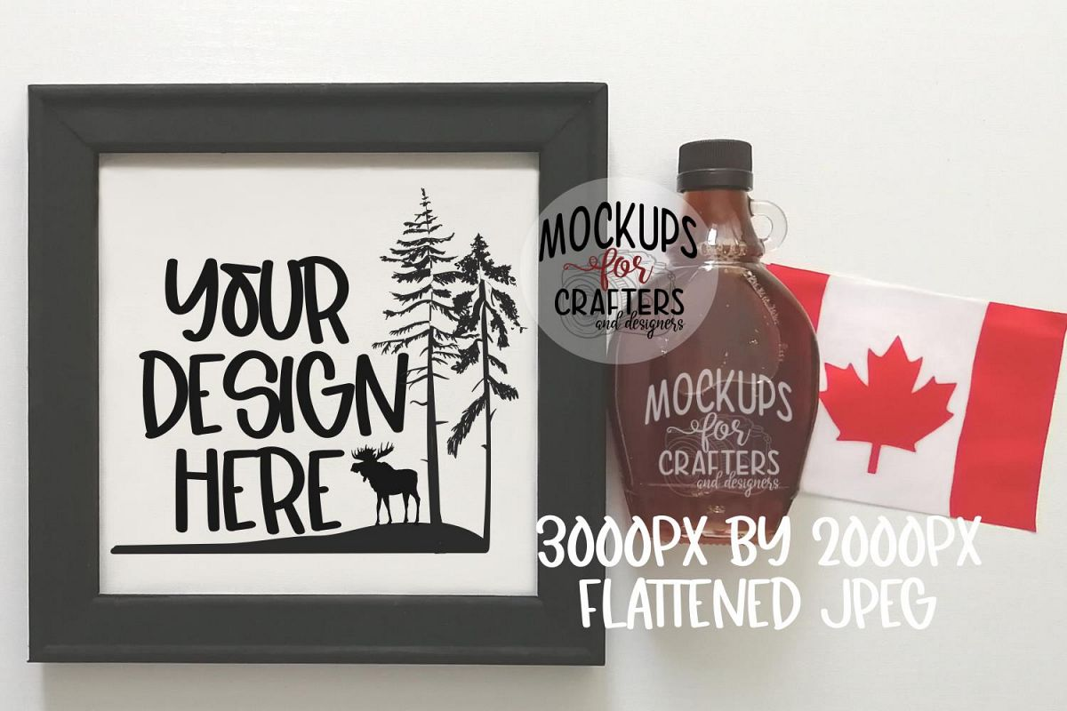 REVERSE CANVAS mock-up, Canadian theme example image 1
