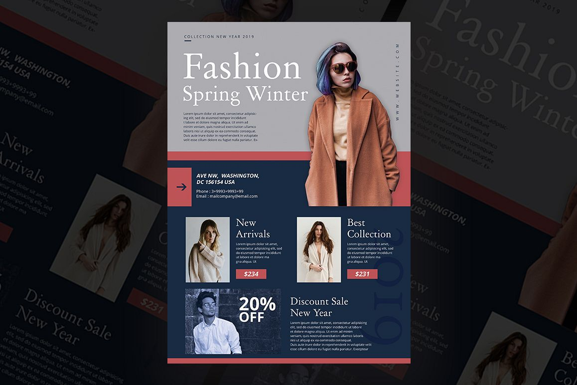 Fashion Spring Winter Flyer example image 1