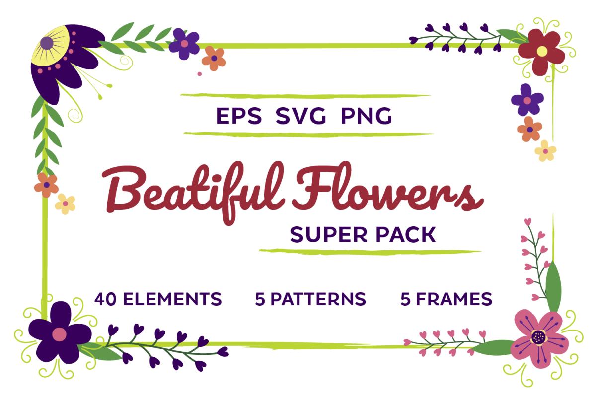 Beautiful Flowers Super Pack
