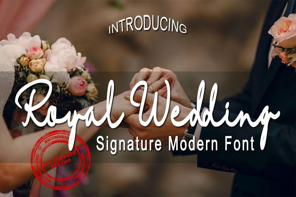Royal Wedding - Signature Modern Font example image 1