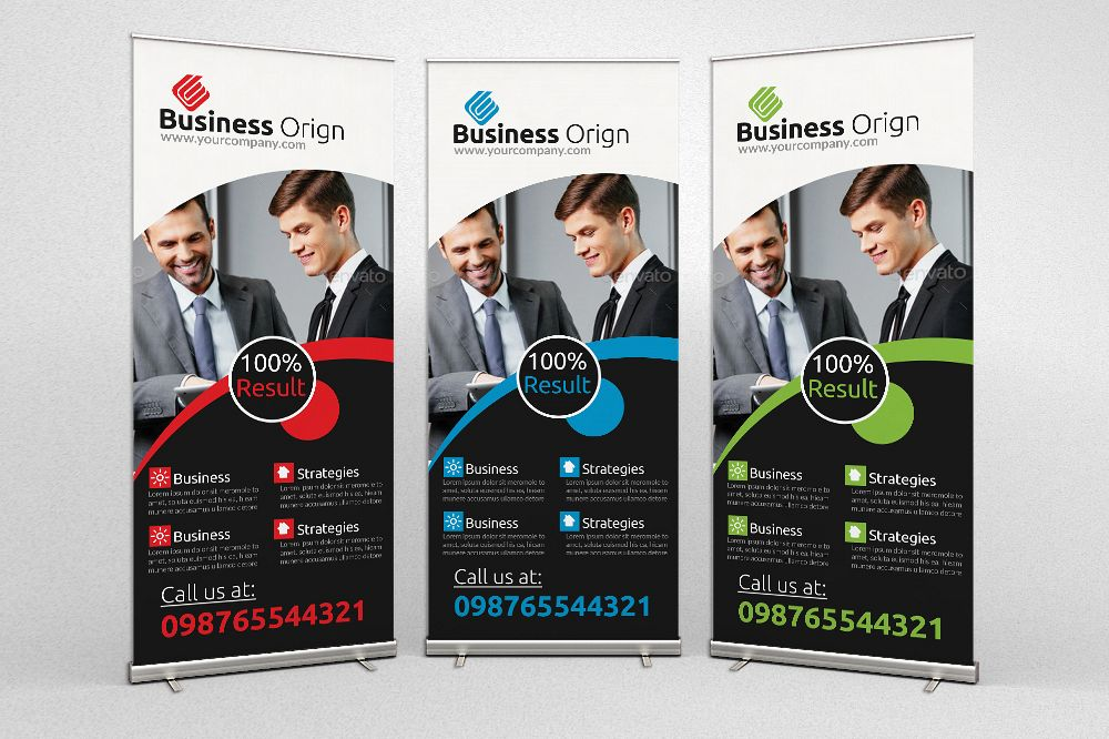Business Dealing Roll Up Banners example image 1