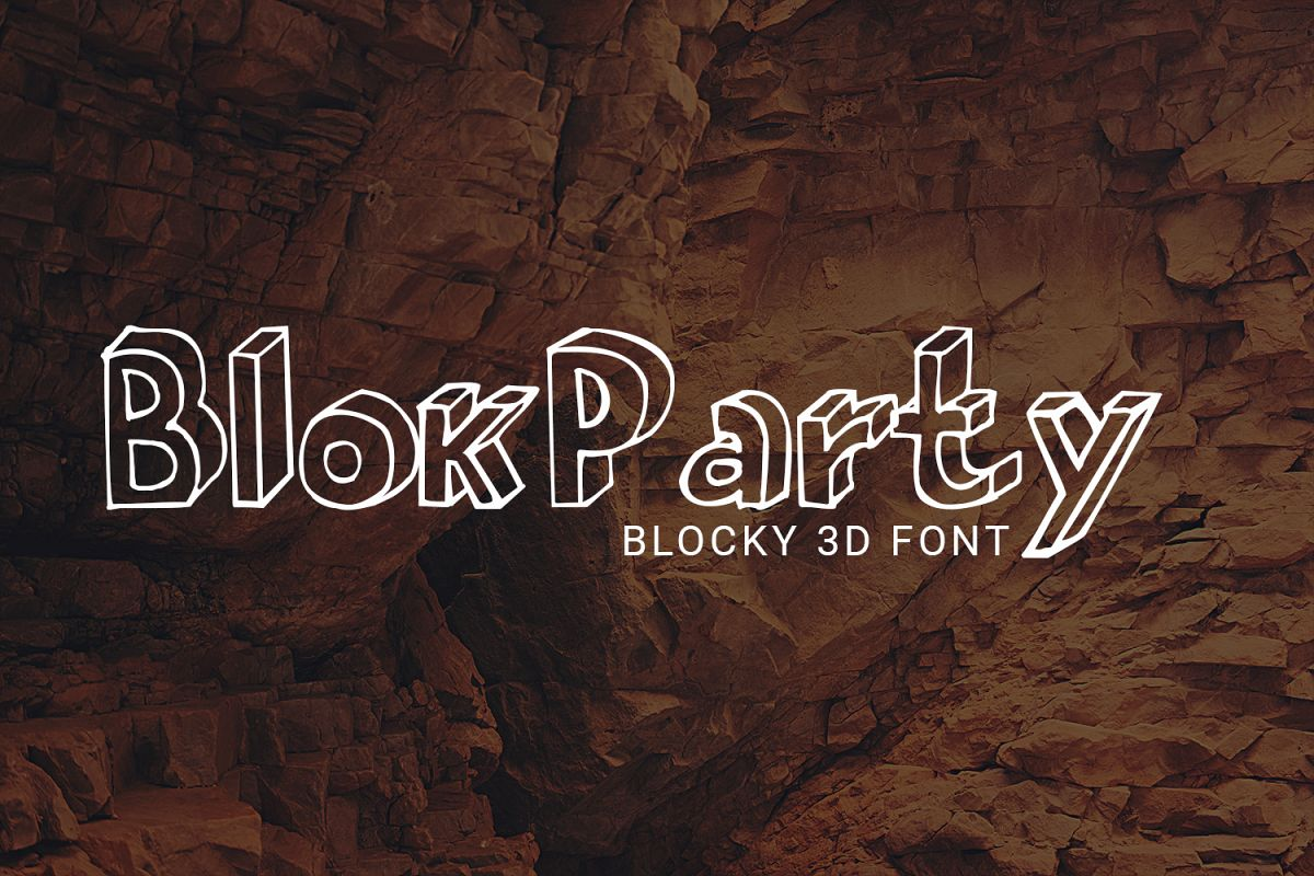 BlokParty Playful Font for the Kid in You example image 1