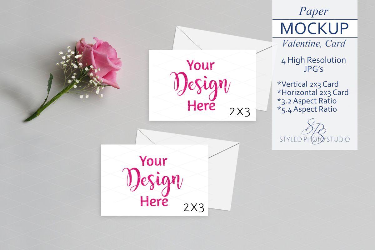 Valentine Mockup Card Mockup 2x3 Card 3 2 5 4 Aspects