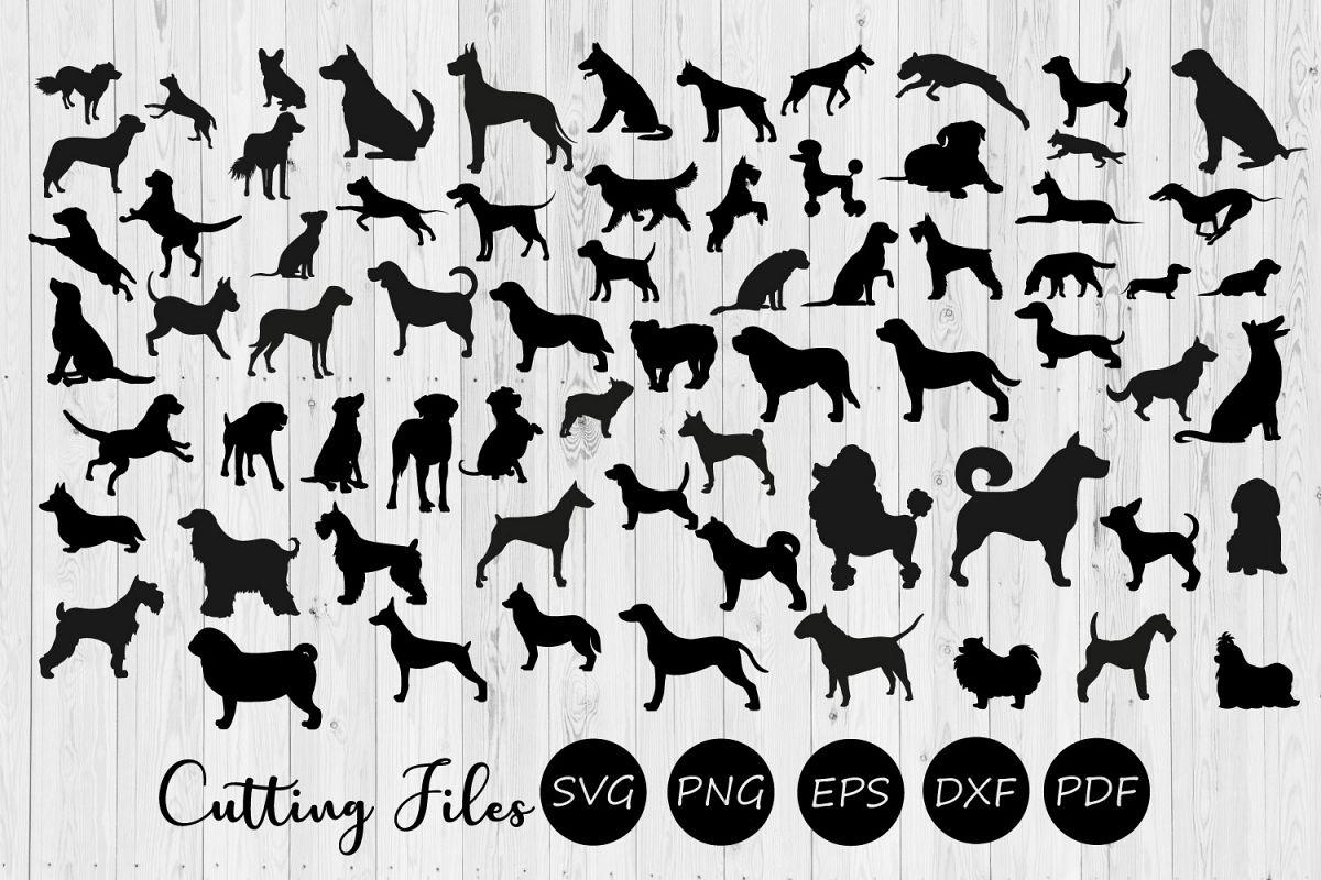 68 Dog Silhouette Bundle   SVG cut files  cricut  cameo   example image 1