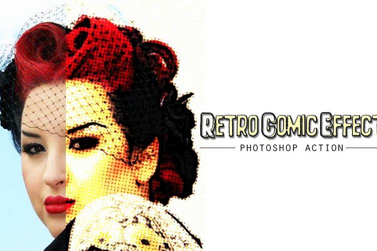 Retro Comic Photoshop Action example image 1