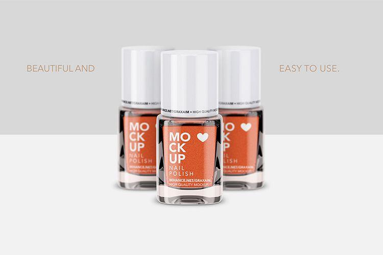 Nail Polish Mockup - Front View example image 1