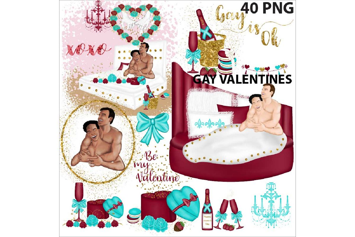 Gay Valentines Day clipart example image 1