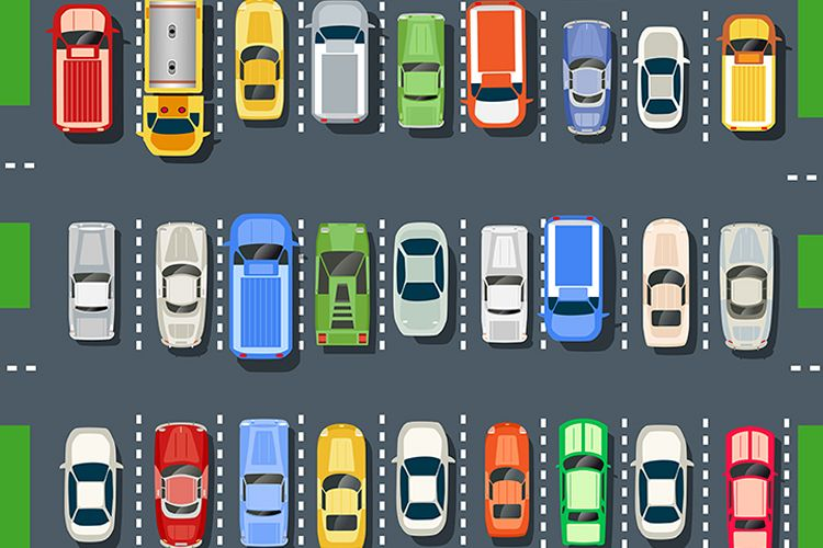 Top view of a city parking example image 1
