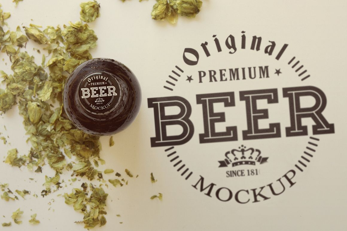 Beer Cap |Logo Mockup example image 1