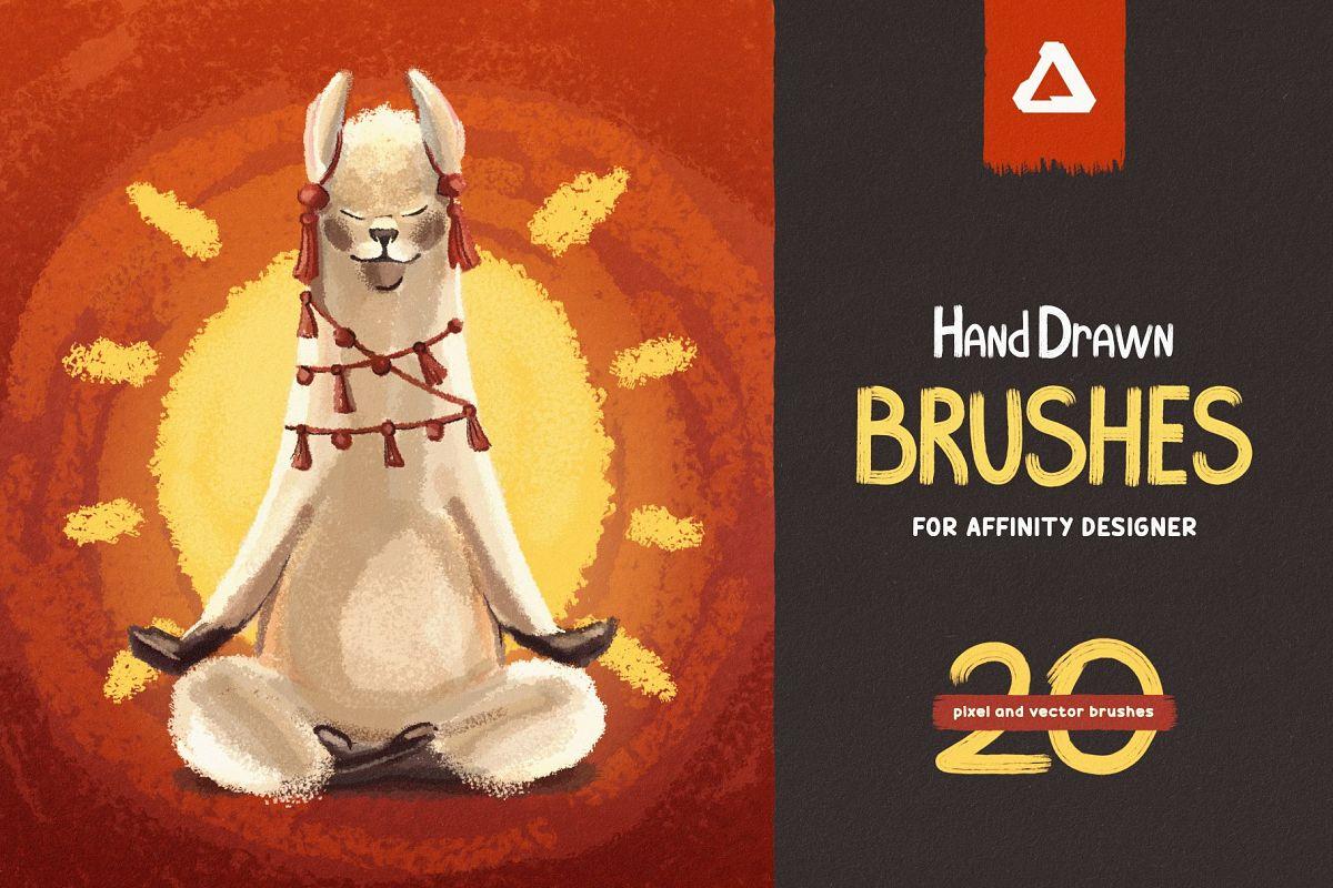 Hand Drawn Brushes for Affinity Designer example image 1