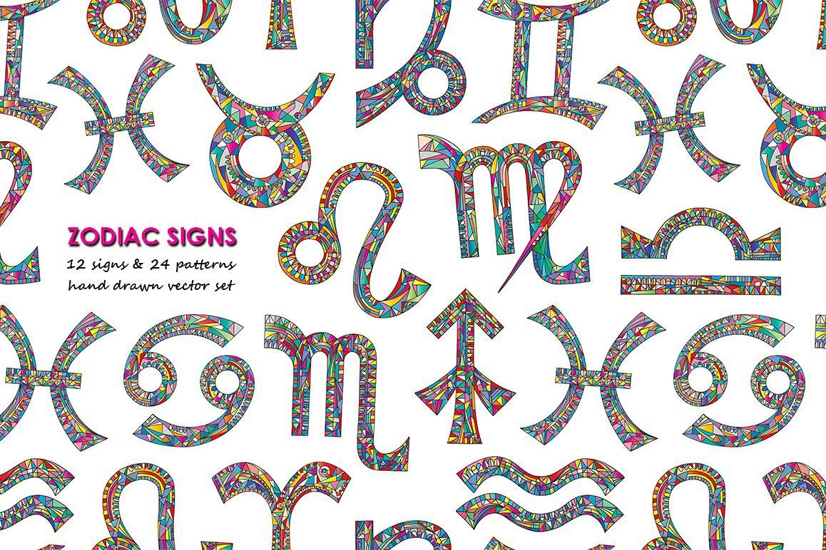 Zodiac signs vector collection example image 1