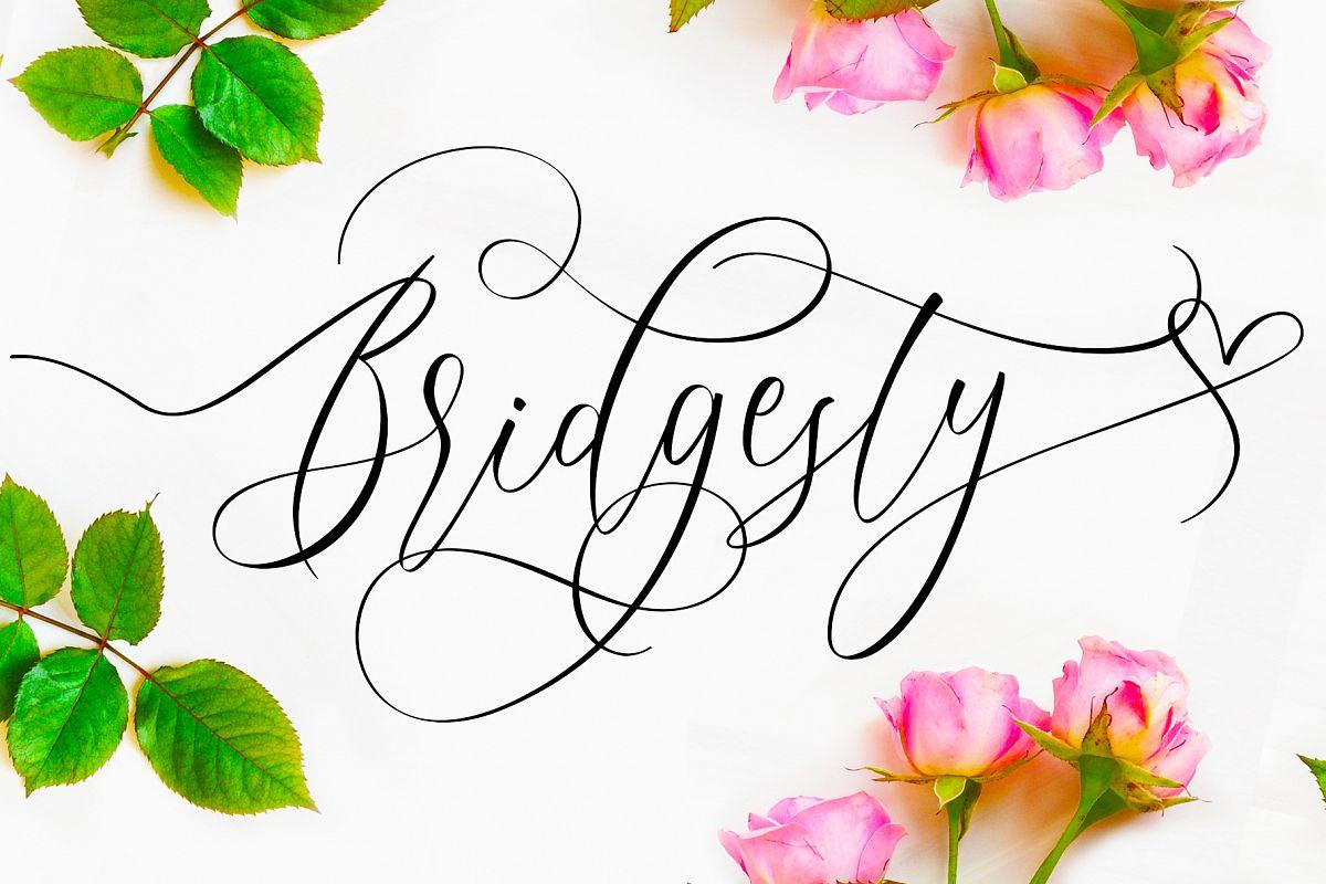 Bridgesty - Wedding Font example image 1