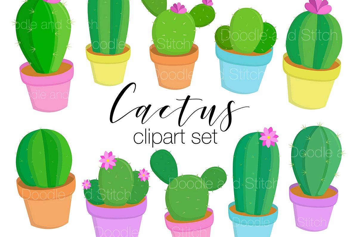 Cactus Clipart Illustrations example image 1