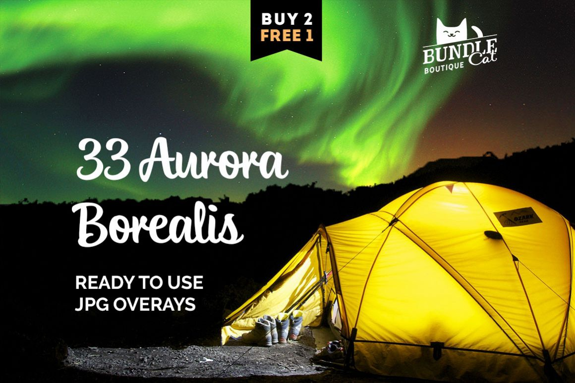 33 Aurora Borealis Photo Overlays example image 1