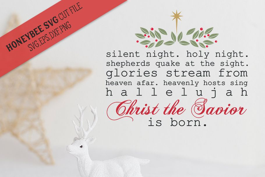 Silent night type svg example image 1