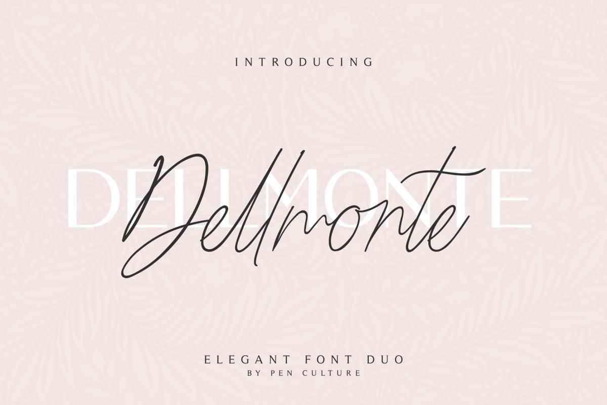 Dellmonte - Elegant Font Duo example image 1