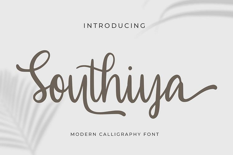 Southiya - Modern Calligraphy Font example image 1