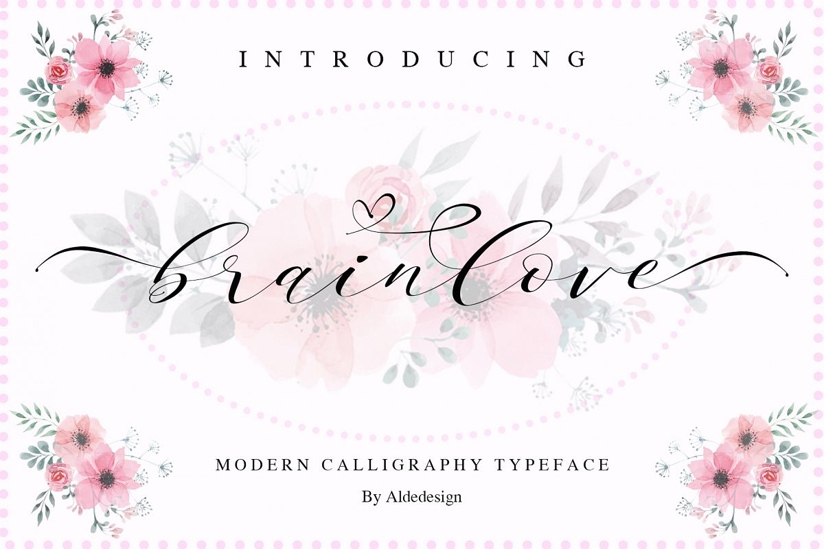 Brainlove - Beautiful Script example image 1