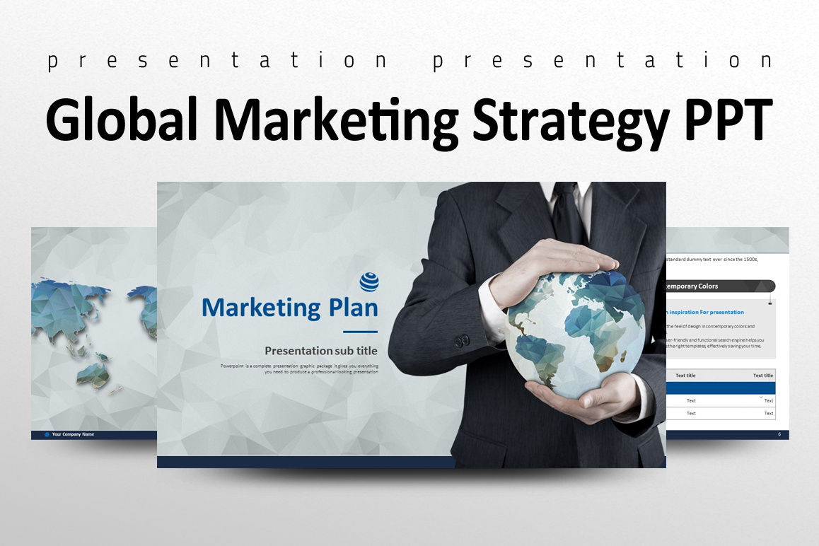 Global Marketing Strategy PPT example image 1