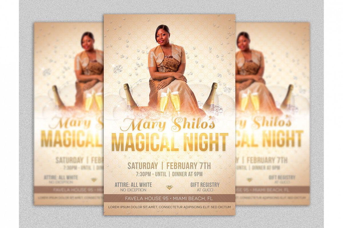 Birthday Party Flyer Template example image 1
