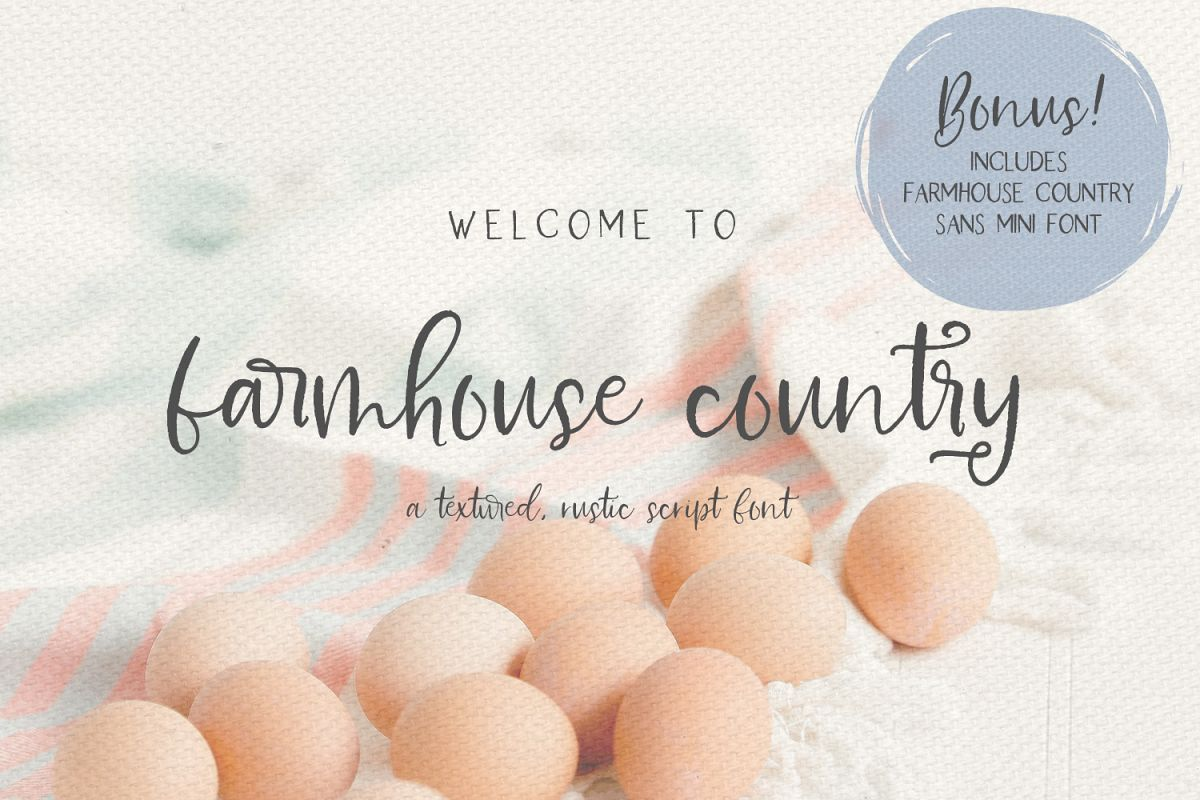 Farmhouse Country Rustic Cursive Font example image 1