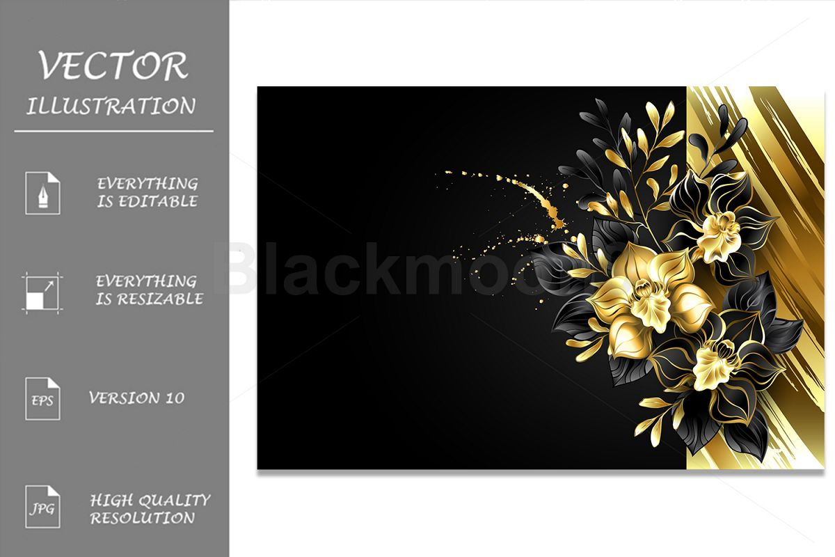 Design with Foil and Black Orchids example image 1