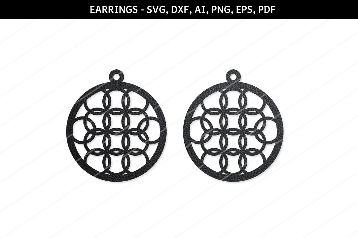 Round Earrings svg, Modern earrings, Jewelry svg,cricut file example image 1