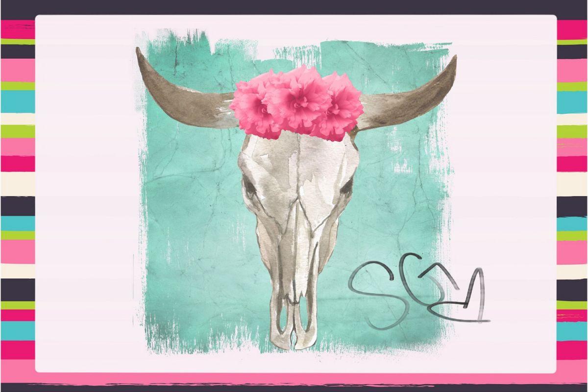Steer Skull Sublimation Digital Download example image 1