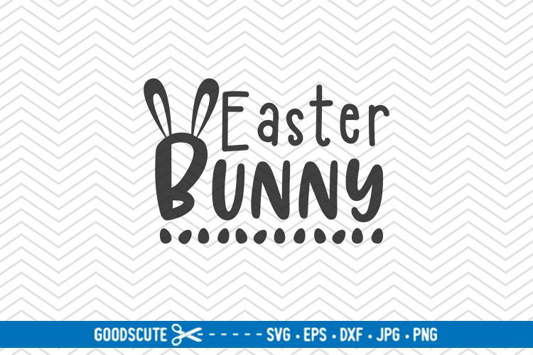 Easter Bunny - SVG DXF JPG PNG EPS example image 1