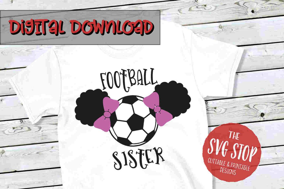 Football-Soccer Sister 3-SVG, PNG, DXF example image 1
