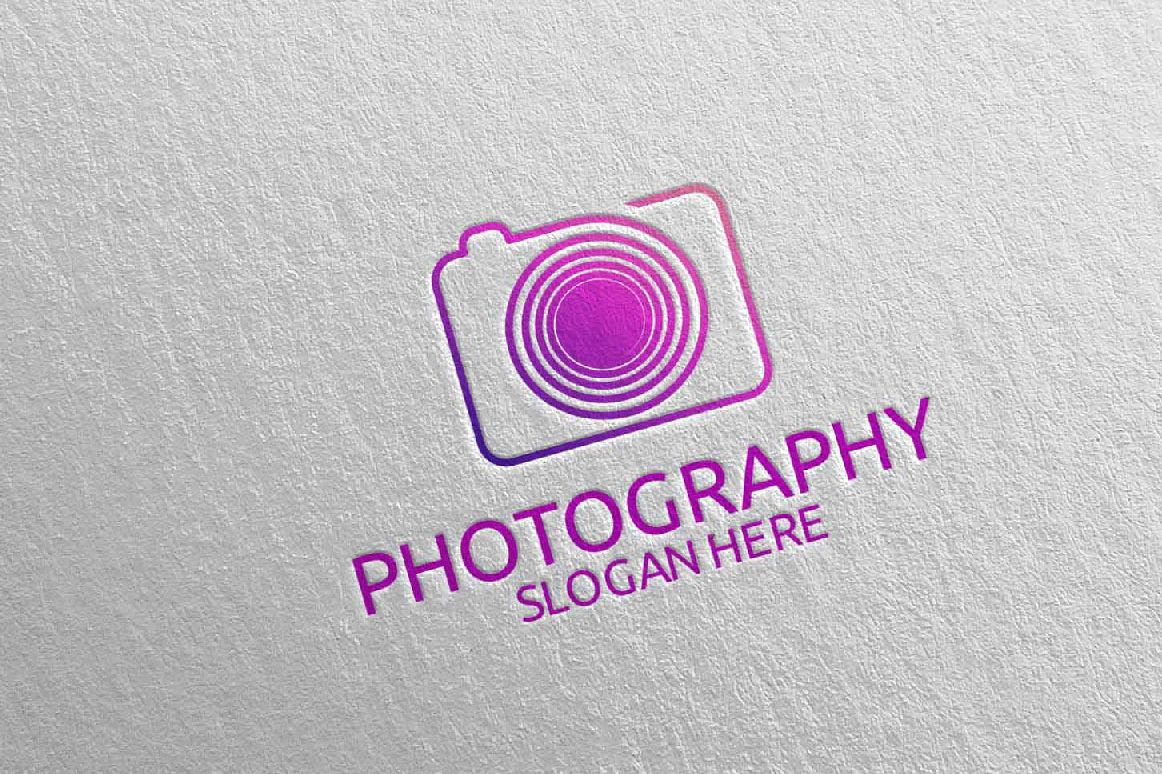 Abstract Camera Photography Logo 10 example image 1