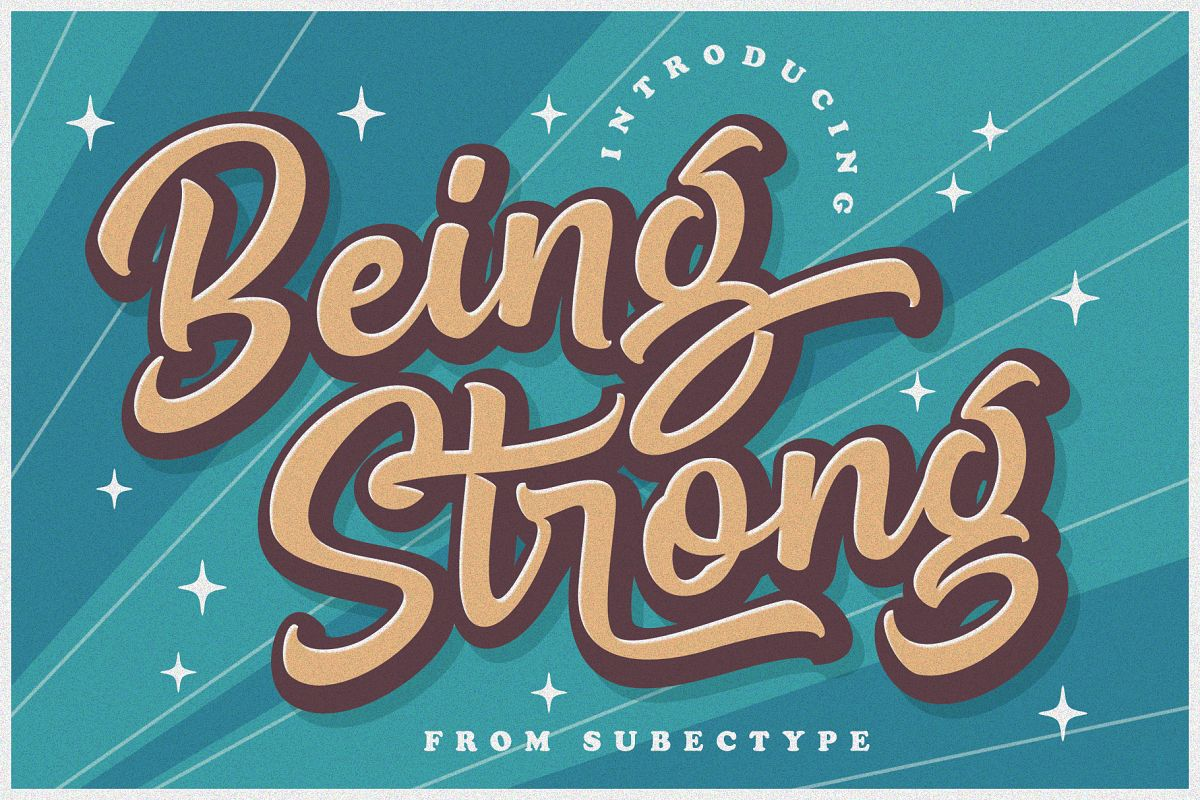 Being Strong Layered Font example image 1