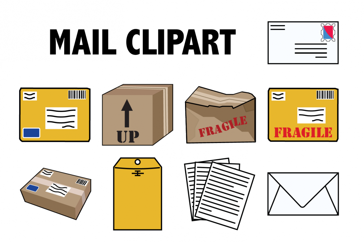 Mail and Packages Clipart example image 1