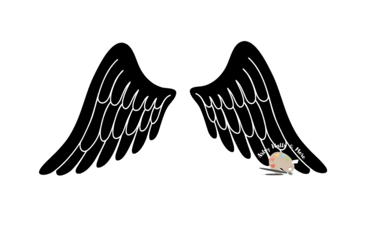 Angel Wings Svg CUT File In Loving Memory Memorial SVG For