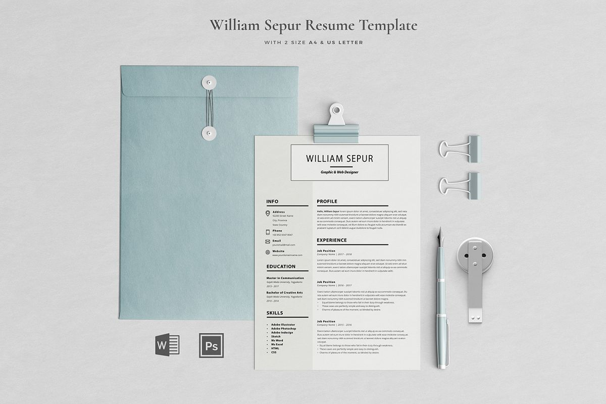 William Resume with Cover Letter Professional Template example image 1